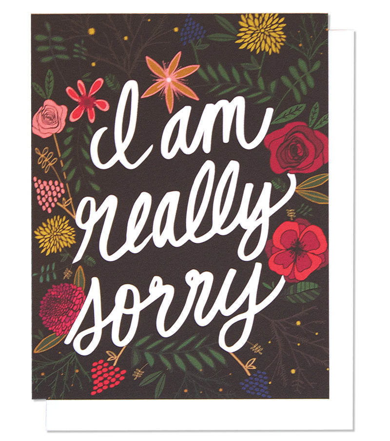 I'm So Sorry Single Greeting Card