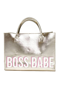 Boss Babe Vegan Leather Tote