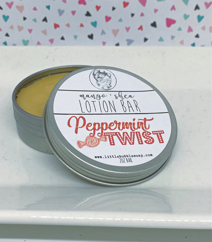 Peppermint Twist Lotion Bar - Holiday Collection 2020