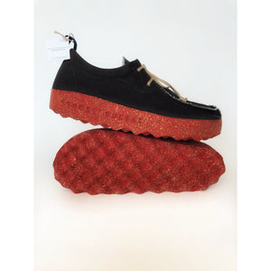 Asportuguesas Chat Black & Red Lace Trainers