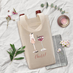 Wine Double Tote - Cheers