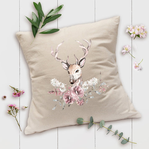 French Farmhouse Pillow - Oh Deer