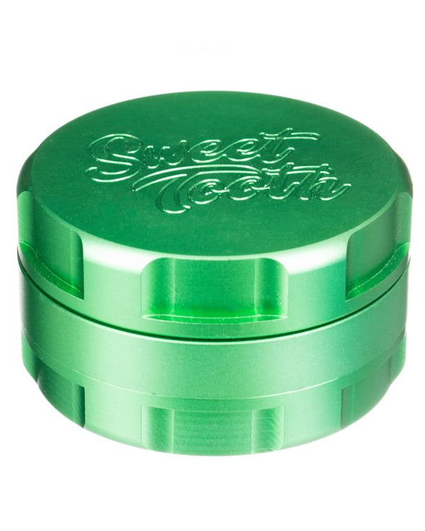 Green 3-Piece Large Radial Teeth Aluminum Grinder