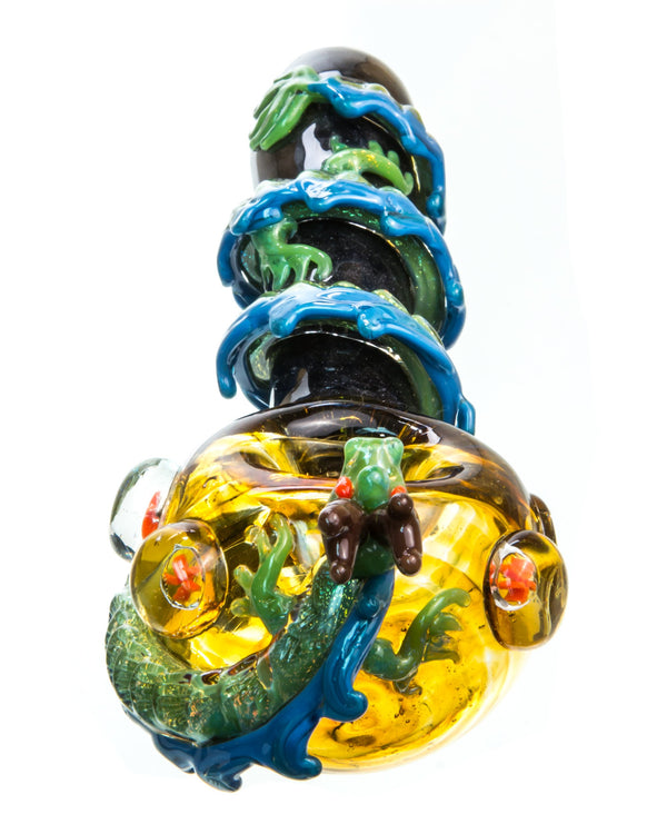 Dragon Wrapped Glass Pipe