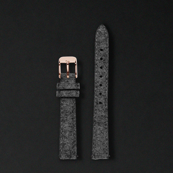 14MM ANTHRACITE WOOL Rose Gold Buckle