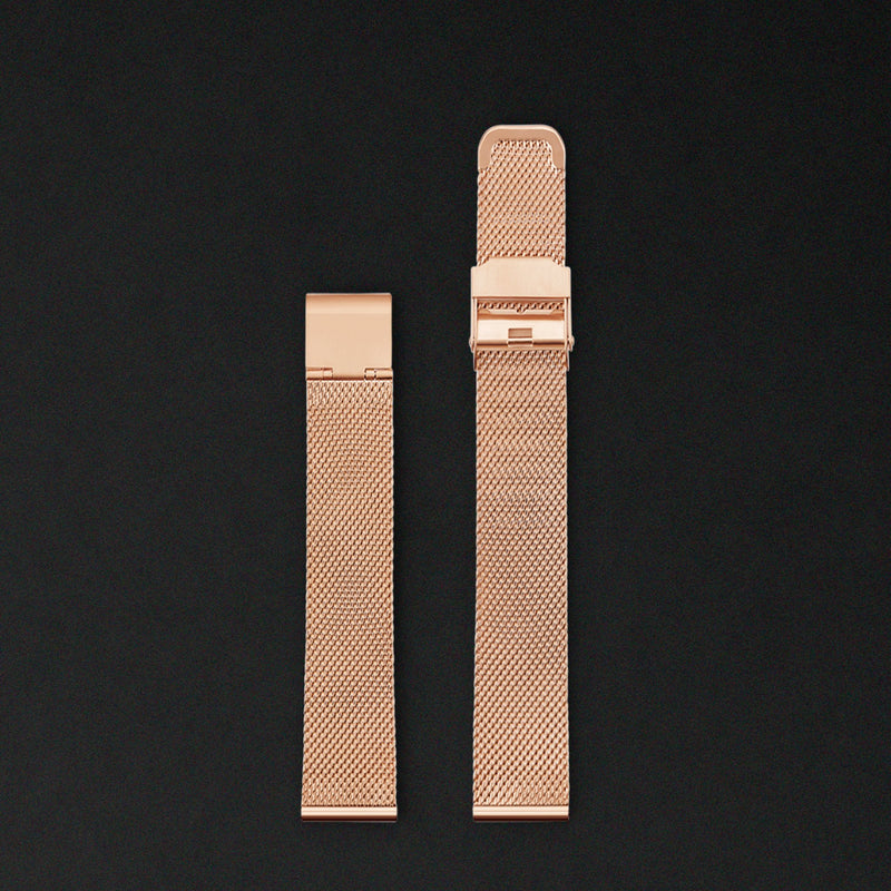 14MM ROSE GOLD MESH For Saga Watches