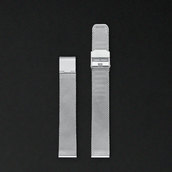 14MM SILVER MESH For Saga Watches