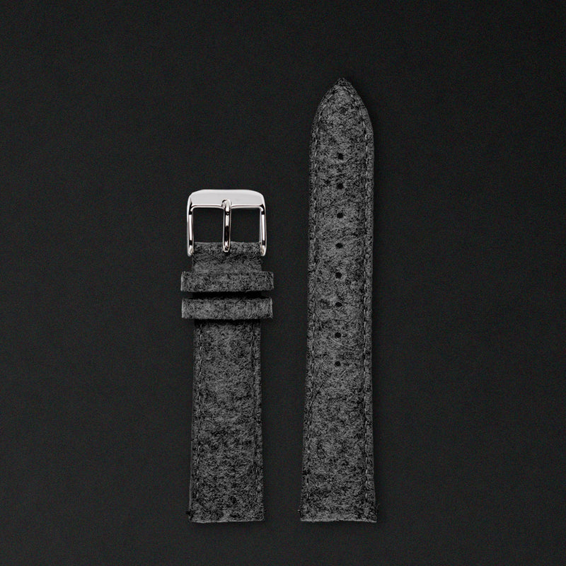 20MM ANTHRACITE WOOL Silver buckle