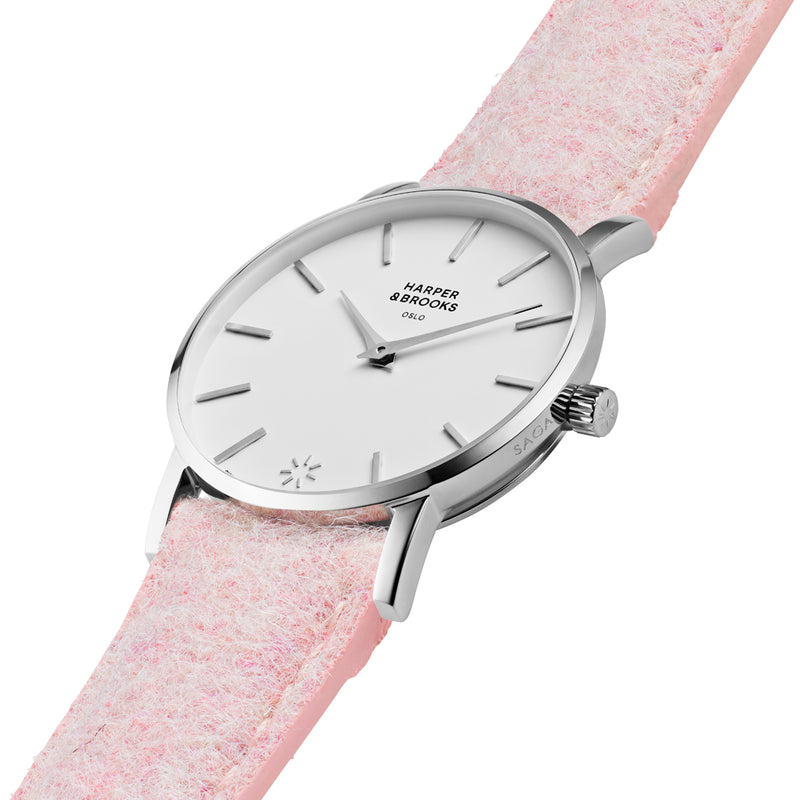 SAGA 28MM WOOL PINK White / Silver
