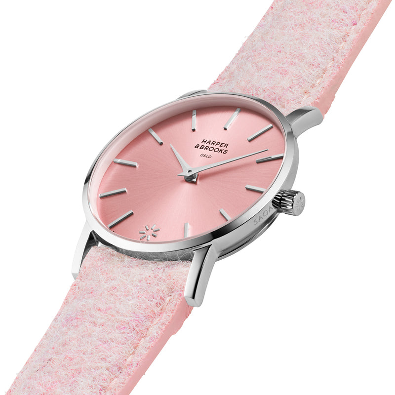 SAGA 28MM WOOL PINK Frost / Silver