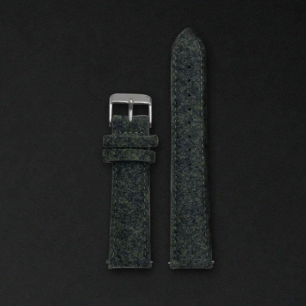 20MM EMERALD GREEN WOOL Silver Buckle FOR ORIGINAL 40MM WATCHES