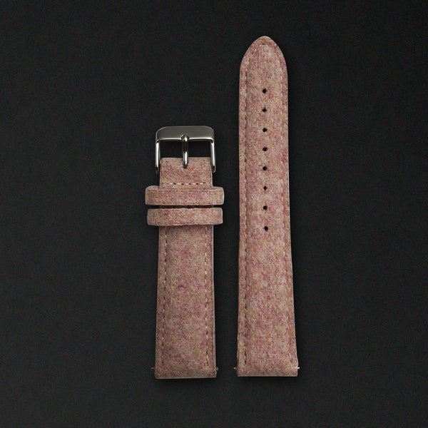 20MM PINK WOOL Silver Buckle