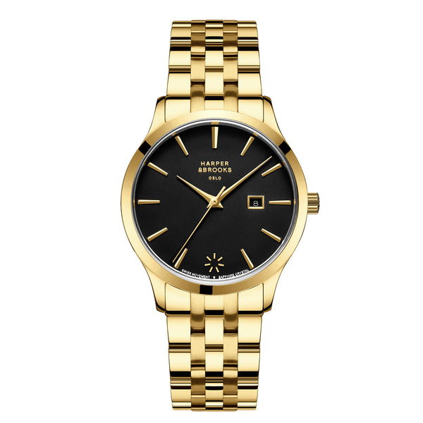 AURORA 34MM LINK GOLD/BLACK