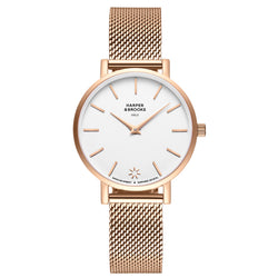SAGA 32MM MESH ROSE GOLD White / Rose Gold