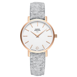 SAGA 32MM WOOL LIGHT GREY White / Rose Gold