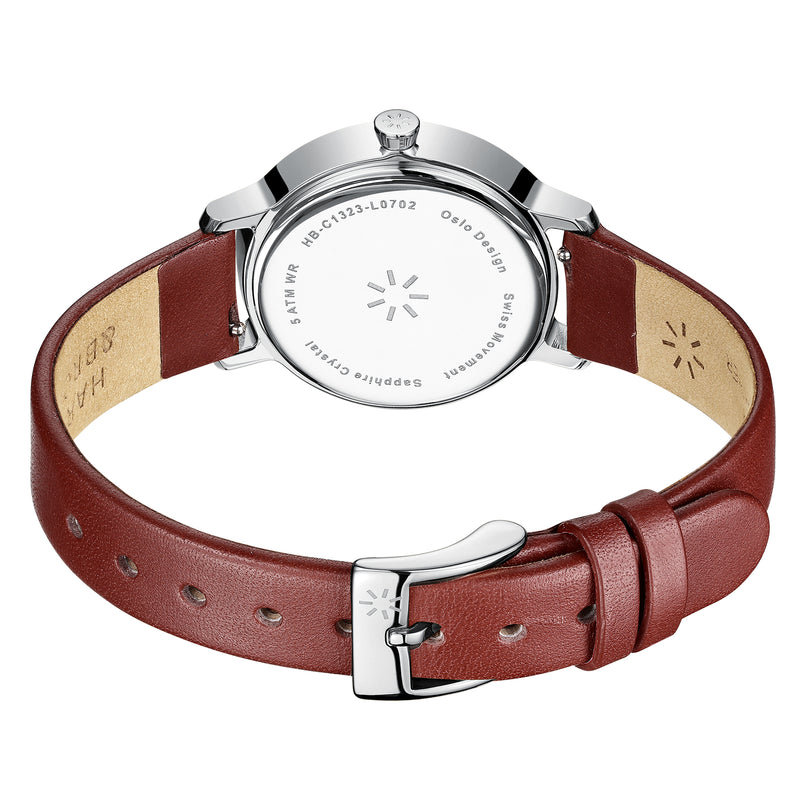 Bauhaus 32mm Silver/Red
