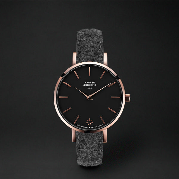 SAGA 32MM WOOL ANTHRACITE Black / Rose Gold