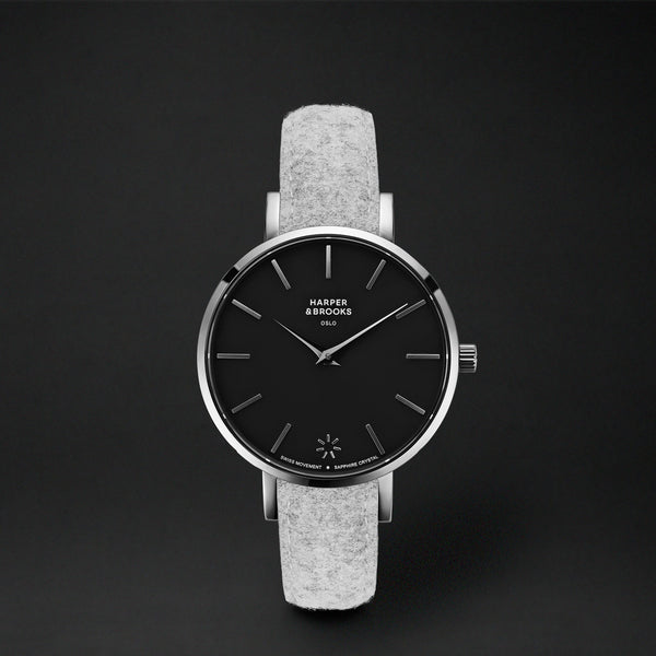 SAGA 32MM WOOL LIGHT GREY Black / Silver