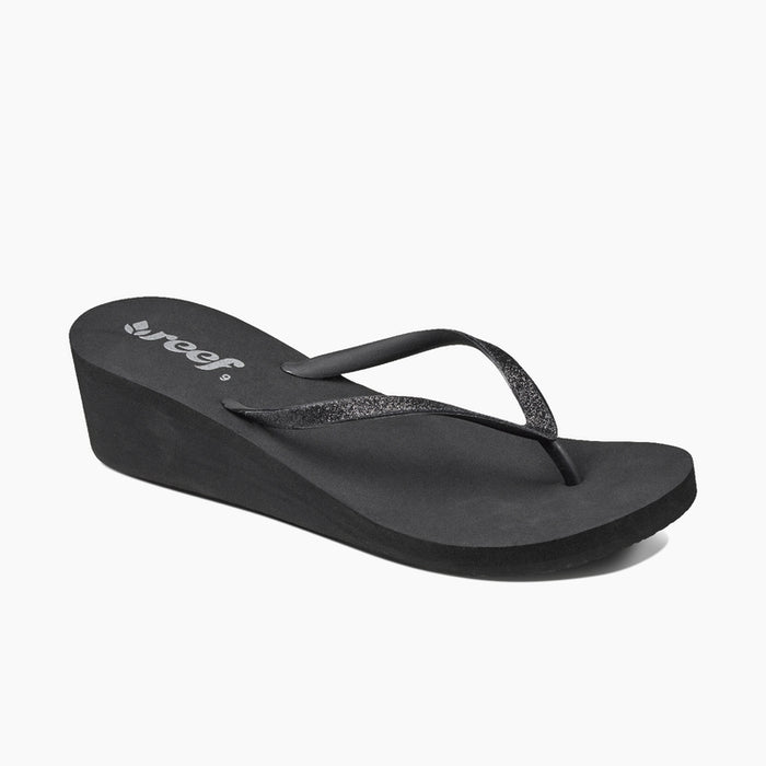 Reef Krystal Star Wedge Thong Sandal Black