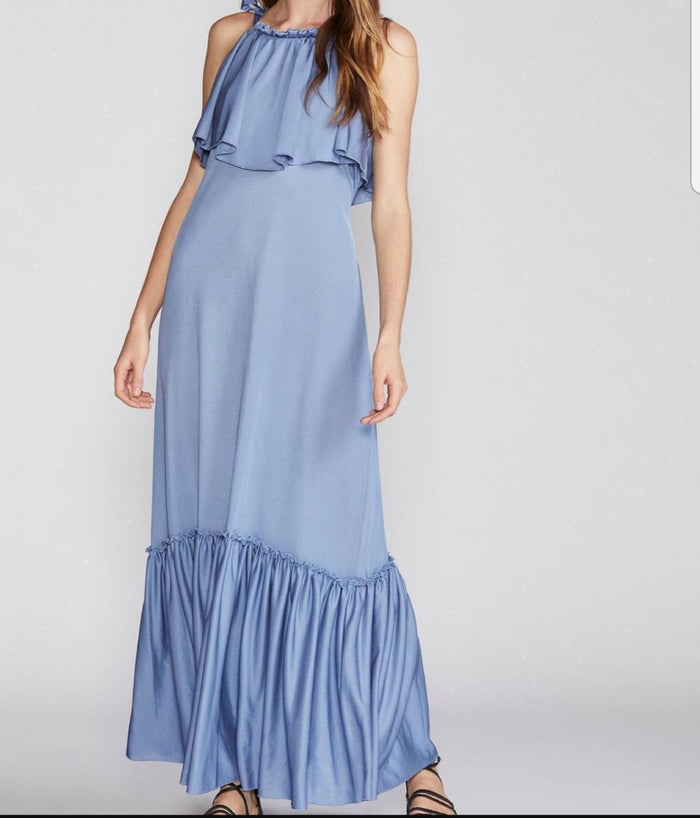 Free People Coco Popover Maxi Dress. Size XS