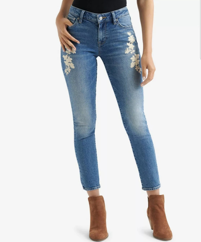 Lucky Brand | Avon Embroidery-Accent Lolita Skinny Jeans size 14/32