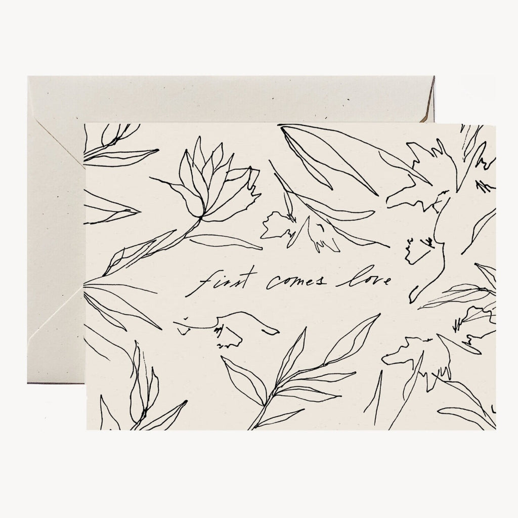 WILDE HOUSE PAPER | First Comes Love Card