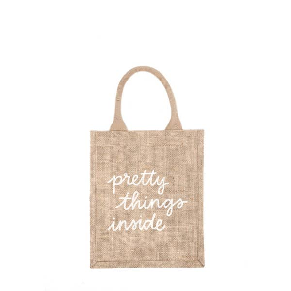 THE LITTLE MARKET | Reusable Gift Bag Tote - Pretty Things Inside Medium