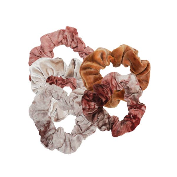 KITSCH | Rust Tie Dye Scrunchies