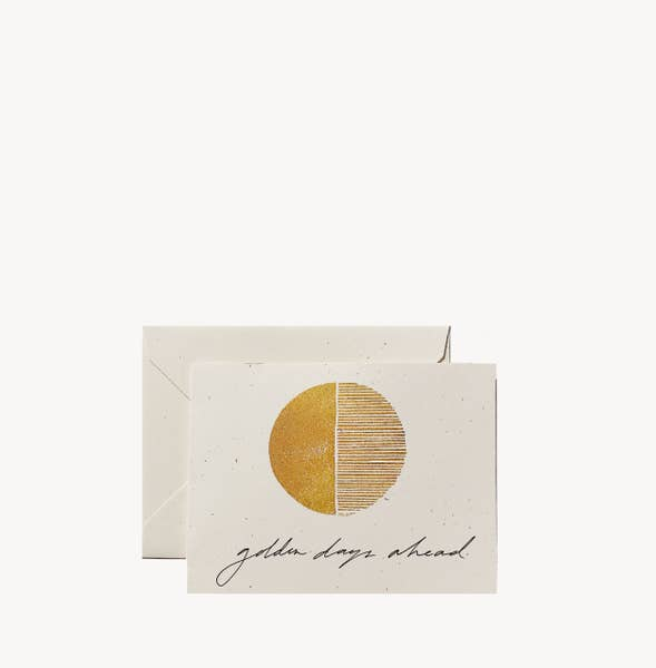 WILDE HOUSE PAPER | Golden Days Ahead Card