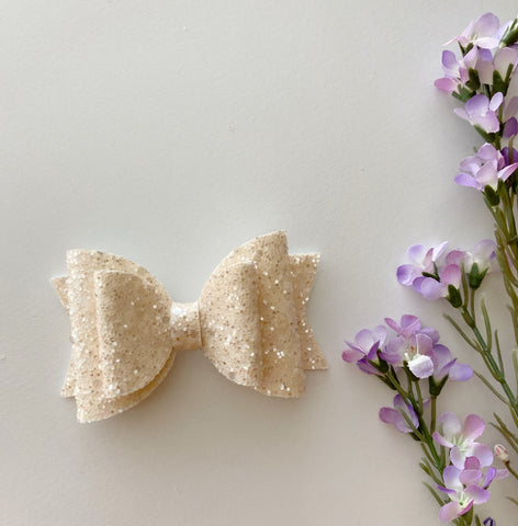 Sparkle Ivory Double Bow