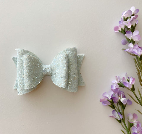 Sparkle Sky Blue Double Bow
