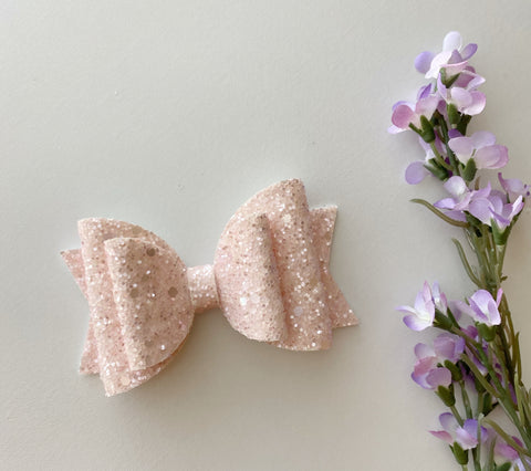 Sparkle Pink Double Bow