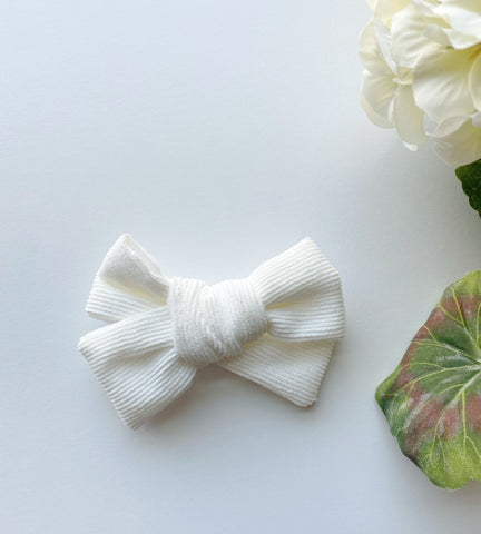 White Corduroy Bow