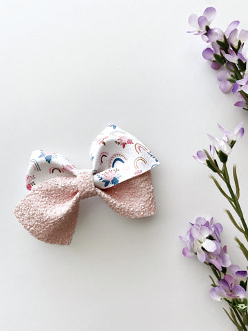 Rainbow Blooms Luxe Bow