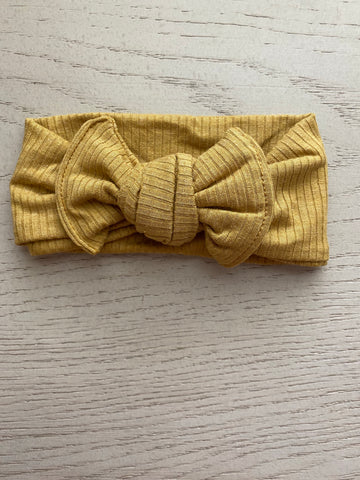 Mustard Ribbed Headwrap