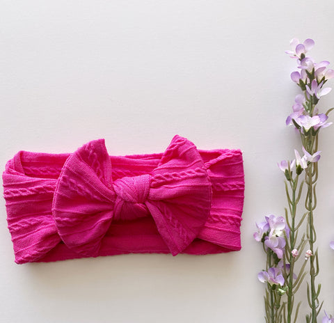 Magenta Soft Headwrap
