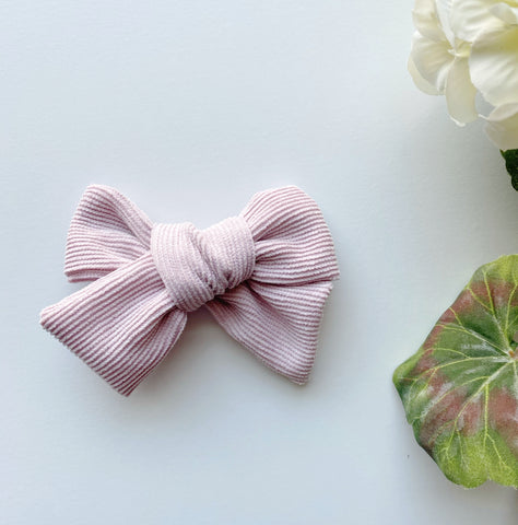 Baby Pink Corduroy Bow