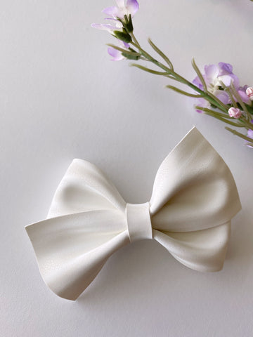 White Luxe Bow