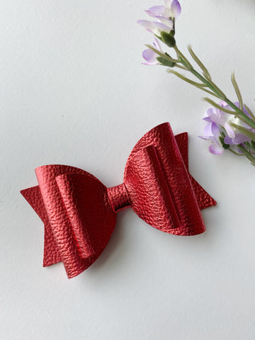 Red Metallic Double Bow