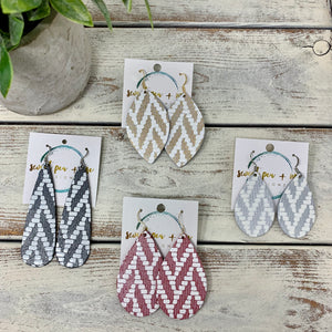 Metallic and White Chevron