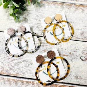 Acrylic Hoops with Wood Studs