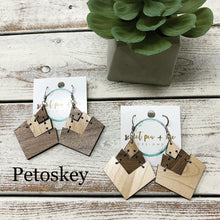 Load image into Gallery viewer, Hinged Wood Earrings