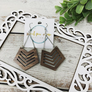 Chevron Metal Bar Dangles