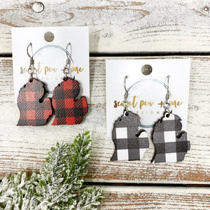 Buffalo Plaid Michigan earrings