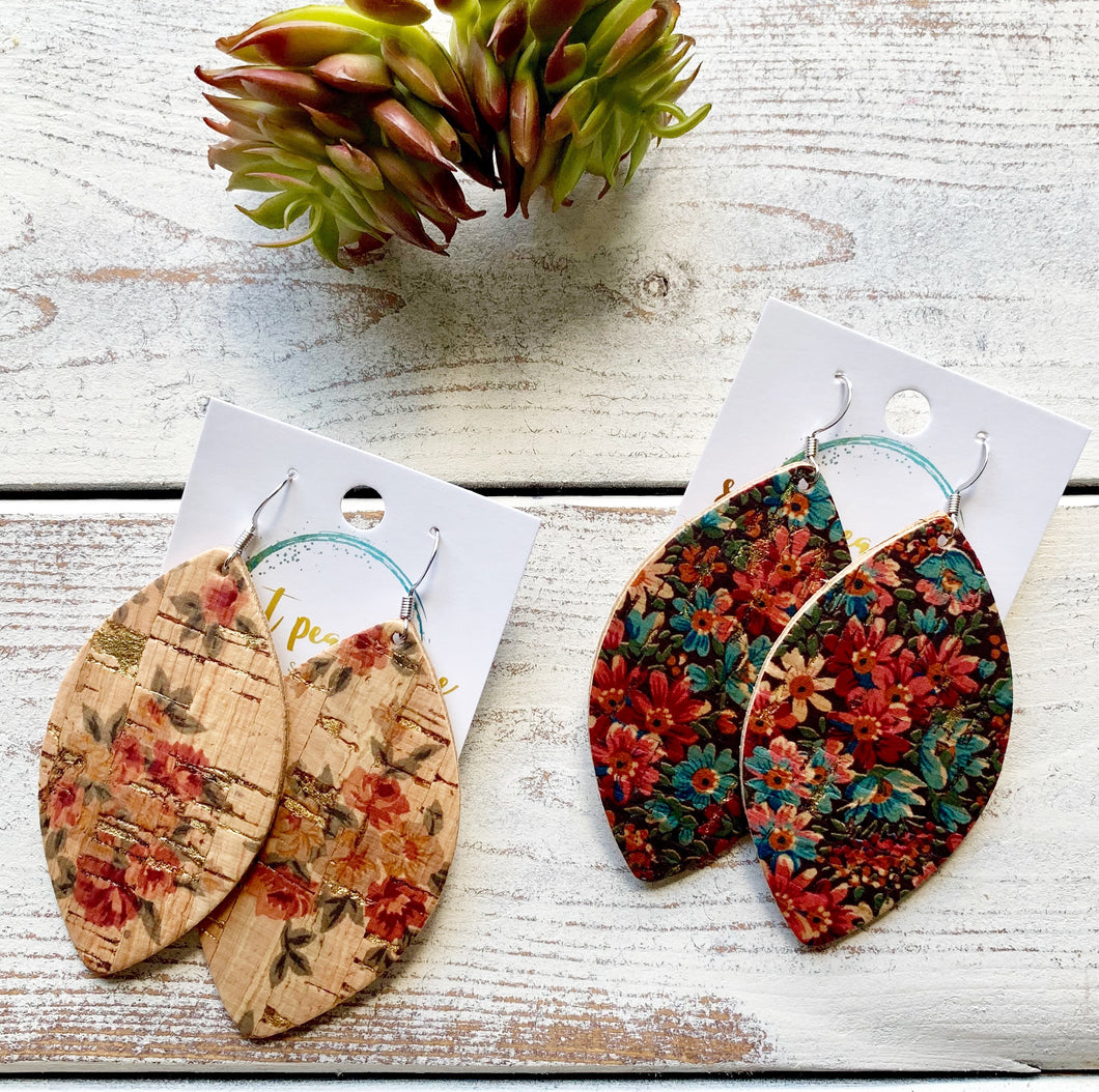 Floral Cork (leather backed cork)
