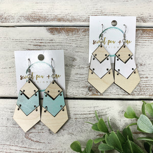 Hinged Leland Wood Earrings