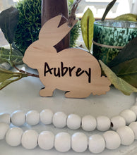 Load image into Gallery viewer, Custom Bunny Easter Basket Tag