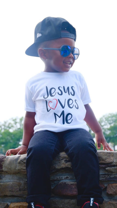 Jesus Loves Me Tee - White