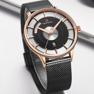 Futuristic Style Chain Strap Watch