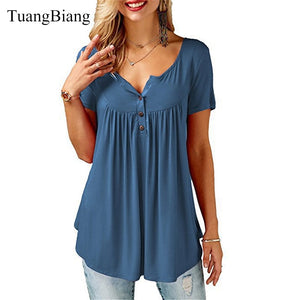 TuangBiang Summer V-Neck Tee